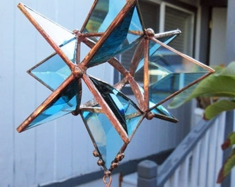 Star, 12 Pointed, 3-Dimensional Beveled Stained Glass