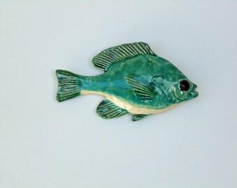 Sunfish ceramic fish art deorative wall hanging