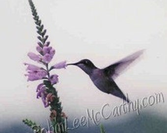 options for #031 Hummingbird Obedient All Occasion Cards for when you care enough to send handmade! or Photograph / Matted / Canvas / Pillow