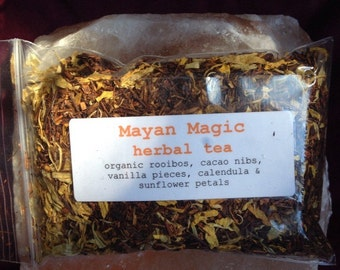 MAYAN MAGIC Rooibos Herbal Tea Blend One Ounce delicious brew organic and vegan