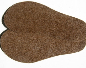 Boot Liners for Men and Women, Wool Alpaca Insoles, Felt Shoe Inserts, Eco-Friendly -  Small