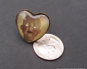 Heart Shaped Doll Head Ring by Ugly Shyla Doll Jewelry