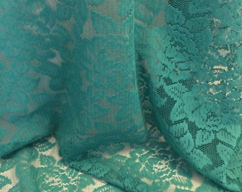 Floral Lace Fabric  1-1/8 Yard