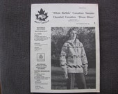 RESERVED for Connie  Vintage Unisex Cowichan Canadian Knit Sweater Pattern