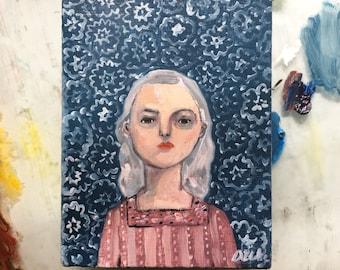 Oil painting portrait - Zia - Original art
