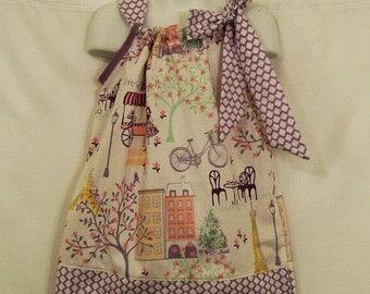 Girls  Girly Lavender Pillowcase Dress  Handmade  Little Girls Dress  Girls Clothing, Made in the USA, #124