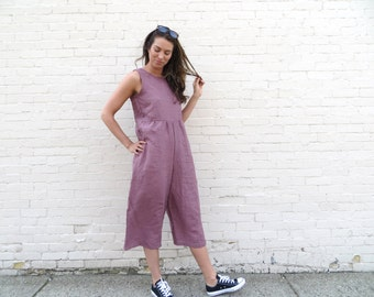 Organic Linen Backyard Jumpsuit