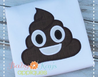 Chocolate Emoji Applique Design 4x4, 5x7, 6x10, 8x8