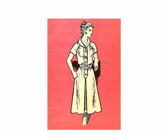 SALE 1970s Womens Front Button Bodice Dress Mail Order 4993 Vintage Sewing Pattern Size 12 Bust 34 UNCUT