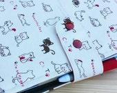 Brown Cat Erin Condren fabric Planner Cover, 17 pocket Plum Paper  Planner wallet, Fabric organiser, water resistant lining