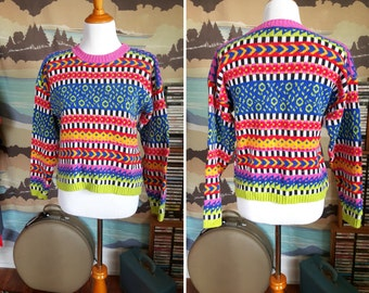 Vintage Crazy Colors 90s Sweater