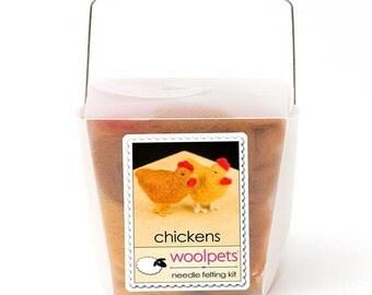 Chickens Needle Felting Kit