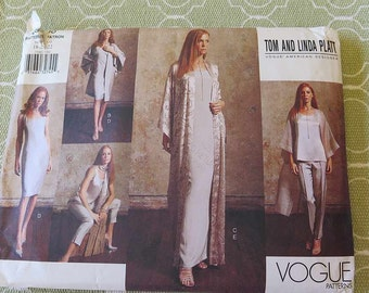 Vogue 2500 Misses KIMONO Dress Top Pants and Scarf Sewing Pattern by Tom and Linda Platt UNCUT sz 18 20 22