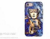 Blue Buddha iPhone 7 Tough Case - Dual Layer Protective Apple iPhone 7 Cover - Inner Guidance by Artist Christopher Beikmann