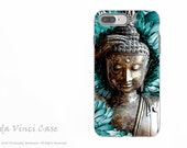 Blue and Brown Buddha iPhone 7 Plus Case - Dual Layer Protective Apple iPhone 7 Plus Cover - Floral Buddhist Art Mind Bloom by C Beikmann