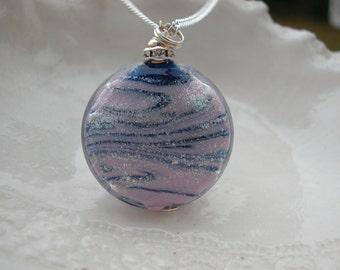 Murano Glass Blue & Silver Necklace
