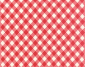 Vintage Picnic - Check in Red: sku 55124-11 cotton quilting fabric by Bonnie and Camille for Moda Fabrics - 1 yard