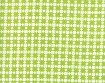 Handmade - Star Quilt in Green: sku 55142-24 cotton quilting fabric by Bonnie and Camille for Moda Fabrics - 1 yard