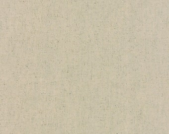 "1 yard and 10"" piece/remnant - Mochi Dots Solid Unbleached Linen - Linen: sku 32911-11 cotton/linen quilting fabric by Momo for Moda Fabrics"