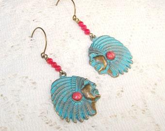 Chief Verdigris Earrings