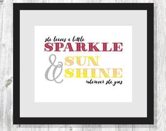 Printable Sparkle and Sunshine Poster 8x10
