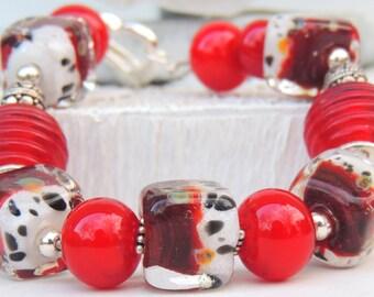 PRADA Handmade Lampwork Bead Bracelet