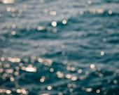 Ocean Photo, Fine Art Print, San Diego, California, Beach Art, Abstract Art, Coastal Art, Sea, Resort Art, Waves, Bokeh, Sparkle, Blue, Art