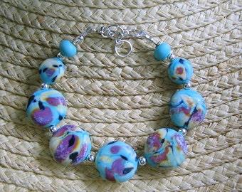 Glass Bracelet Asian Tone