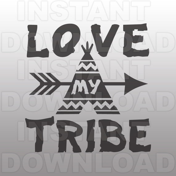 Download Western SVGLove My Tribe SVG FileCutting Template-Vector