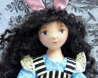 Darkly Alice - An OOAK Cloth Bunny Girl
