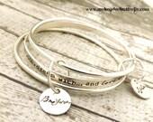 personalized bangle-bangle bracelet- stacked bangles- personalized stacking bangles- personalized bracelet- mothers bracelet-bangle