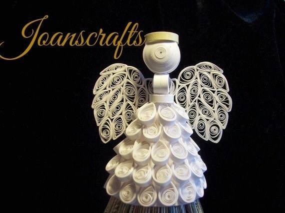 "Quilled Angel Ornament, ""The Original"", Tree Topper"