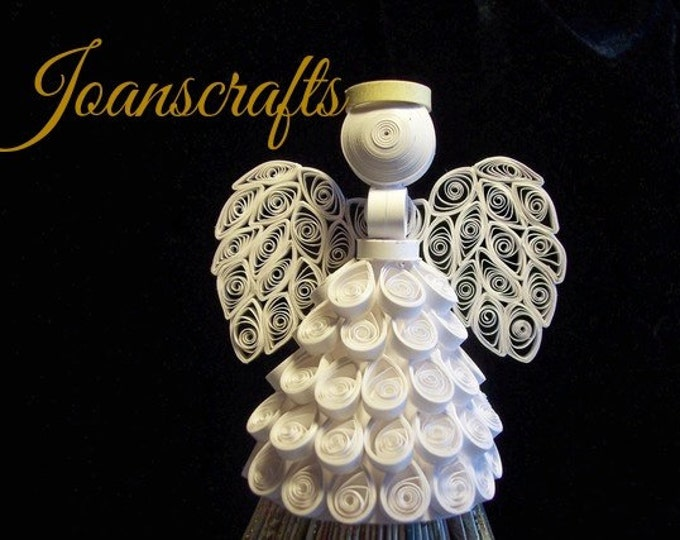 Quilled Angel Ornament, Tree Topper