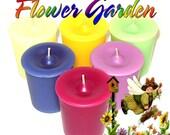 6 Flower Garden Votive Candles Variety Package Spring Floral Scents