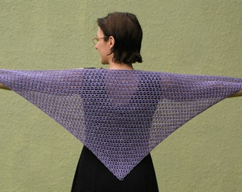 Double Crochet Triangle Shawl Pattern : Items similar to PDF CROCHET PATTERN, Womens Ribbed ...