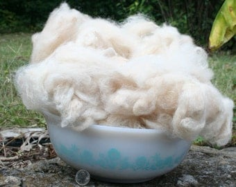 Alpaca Fiber, Washed & Picked, 4 Ounces, Color Tan/Fawn/Cream, Free Shipping