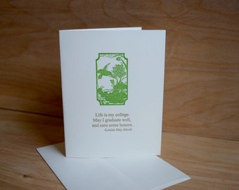 Life is my college. - Louisa May Alcott - Letterpress Card