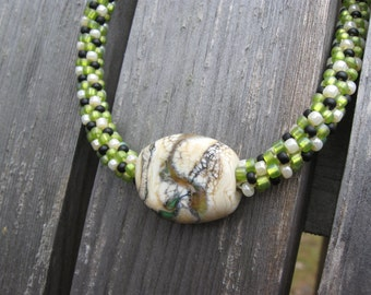 Granny Smith Kumihimo Necklace