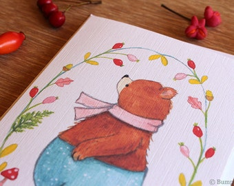 Just one more Berry -  Bear Notecard