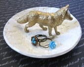Fox Clay Ring Holder Jewelry Dish