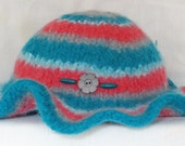 Happy Hat 100% wool handmade felted floppy brimmed hat