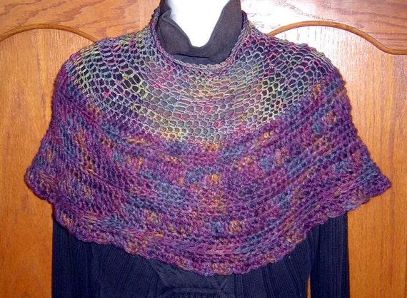 On SALE I Believe In Magic Hand Crocheted Capelet Shawl Neckwarmer Alpaca Merino Silk OOAK Original Design