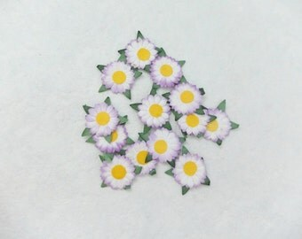 1 inch 50 flowers embellishments (2 layers)