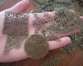 20/40 count Mixed Lot Findings Destash Jewelry Supplies filigree Corner Connector Upcycled Repurpose