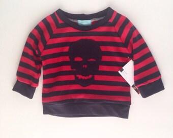 Stripe skull shirt - baby, infant