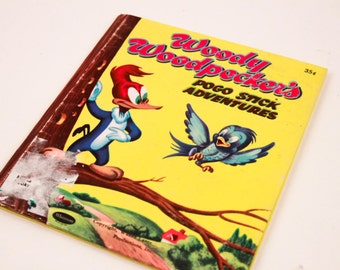 Woody Woodpecker Pogo Stick Adventures Whitman Publishing Picture Book