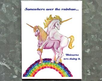 Unicorns humping magnet.