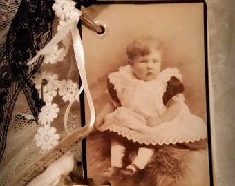 Vintage ephemera cabinet card Journal