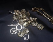 31-pc Spacer Beads Charms Beadcaps and Clasps