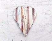Blue Heart, Boho Chic Decor, Bohemian Wall Art, Wood Wall Art, Wooden Heart Wall, Gypsy Decor, Reclaimed Wood Heart, Baby Nursery Heart